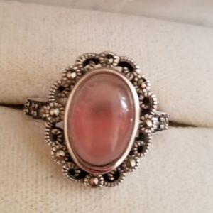 Jewelry - Pretty pink stone/ sterling silver ring